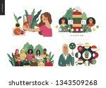 technology 2 set   modern flat...   Shutterstock .eps vector #1343509268