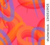 dynamic orange lines pink...   Shutterstock .eps vector #1343515925