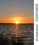 sundown over r gen  | Shutterstock . vector #1343518835