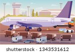 cargo transportation by plane... | Shutterstock .eps vector #1343531612