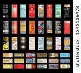 gift voucher template with... | Shutterstock .eps vector #1343536478