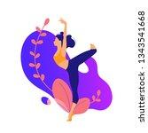 illustrations for beauty  spa ... | Shutterstock .eps vector #1343541668