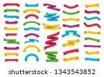 ribbons banners set. vector... | Shutterstock .eps vector #1343543852