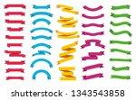 ribbons banners set. vector... | Shutterstock .eps vector #1343543858