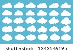 clouds icon  vector... | Shutterstock .eps vector #1343546195