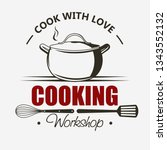 Cooking symbol, emblem set, Saucepan Cook and Food masterclass labels template, Culinary school, food workshop, chef kitchenware, cooking courses. vector