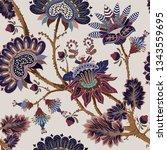 jacobean seamless pattern....   Shutterstock .eps vector #1343559695