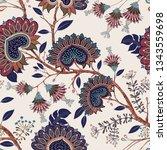 jacobean seamless pattern.... | Shutterstock .eps vector #1343559698