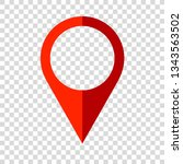 map pin pointer icon flat... | Shutterstock .eps vector #1343563502