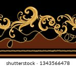 seamless baroque vector pattern ... | Shutterstock .eps vector #1343566478