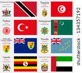 world flags of trinidad and... | Shutterstock .eps vector #134357192