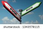two street arrow signs  one is... | Shutterstock . vector #1343578115
