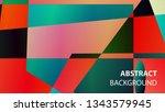 modern geometric abstract... | Shutterstock .eps vector #1343579945