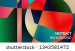 modern geometric abstract... | Shutterstock .eps vector #1343581472