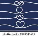 rope knots design | Shutterstock .eps vector #1343583695