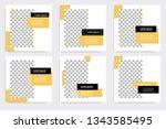 minimal design layout. editable ... | Shutterstock .eps vector #1343585495