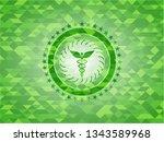 caduceus medical icon inside...   Shutterstock .eps vector #1343589968