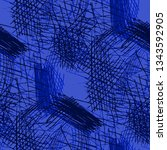 various pen hatches. seamless... | Shutterstock .eps vector #1343592905