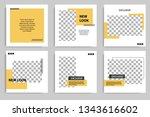 minimal design layout. editable ... | Shutterstock .eps vector #1343616602