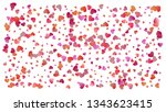 beautiful confetti hearts... | Shutterstock .eps vector #1343623415