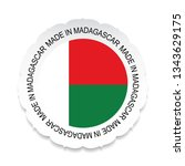 madagascar flag vector... | Shutterstock .eps vector #1343629175