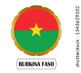 flag of burkina faso with name... | Shutterstock .eps vector #1343629202