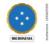 flag of micronesia with name... | Shutterstock .eps vector #1343629205
