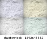 set of four old dented papers... | Shutterstock .eps vector #1343645552