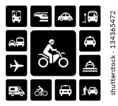 icon set traffic on  isolated... | Shutterstock .eps vector #134365472