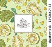 background with jackfruit ... | Shutterstock .eps vector #1343660468