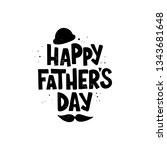 handdrawn lettering happy...   Shutterstock .eps vector #1343681648