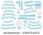 vector set of banners  ribbons  ... | Shutterstock .eps vector #1343711672