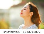 pretty young asian woman... | Shutterstock . vector #1343712872