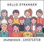 outline style people character. ... | Shutterstock .eps vector #1343713718