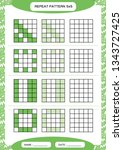 repeat green pattern. cube grid ... | Shutterstock .eps vector #1343727425