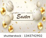 easter light composition with... | Shutterstock .eps vector #1343742902