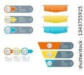 3 steps infographic set. modern ...