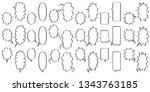 comic speech bubbles for... | Shutterstock .eps vector #1343763185
