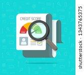 credit score report research... | Shutterstock .eps vector #1343765375
