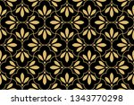 flower geometric pattern.... | Shutterstock . vector #1343770298