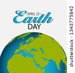 april 22  earth day background... | Shutterstock .eps vector #1343775842
