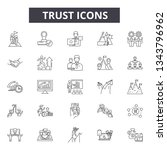 trust line icons for web and... | Shutterstock .eps vector #1343796962