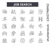 job search line icons for web... | Shutterstock .eps vector #1343798942