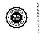 new version label   sticker... | Shutterstock .eps vector #1343802968