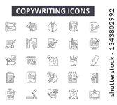 copywriting line icons for web... | Shutterstock .eps vector #1343802992