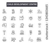 child development centre line... | Shutterstock .eps vector #1343803685