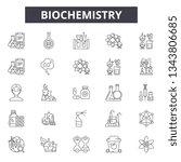 biochemistry line icons for web ... | Shutterstock .eps vector #1343806685