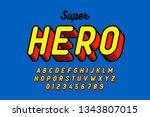comics style font design ...   Shutterstock .eps vector #1343807015