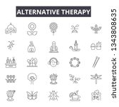 alternative therapy line icons...   Shutterstock .eps vector #1343808635
