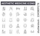aesthetic medicine line icons.... | Shutterstock .eps vector #1343809178